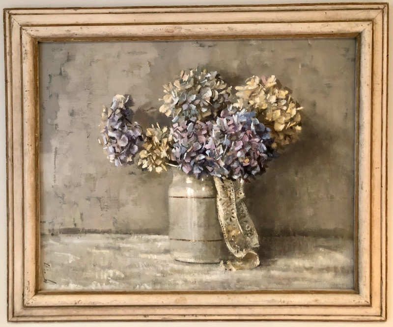 'Hydrangeas and lace' by Andrew Douglas