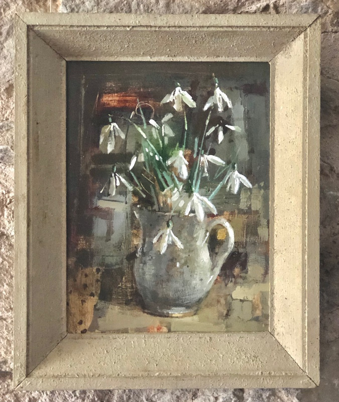 'Winter Light Catching Snowdrops' by Andrew Douglas Forbes