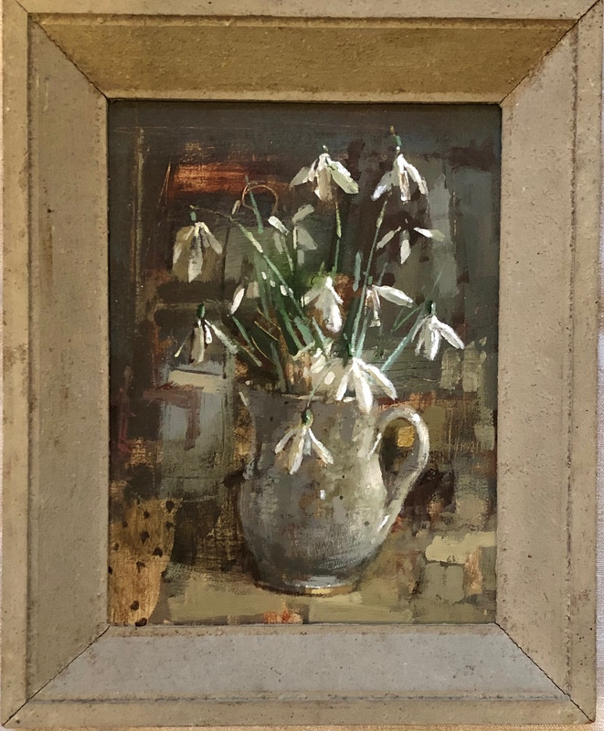 'Winter Light Catching Snowdrops' by Andrew Douglas-Forbes