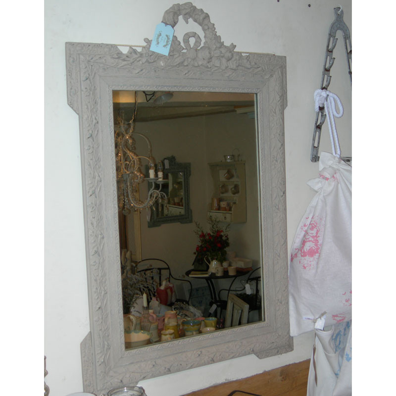 Antique French torch and quiver mirror