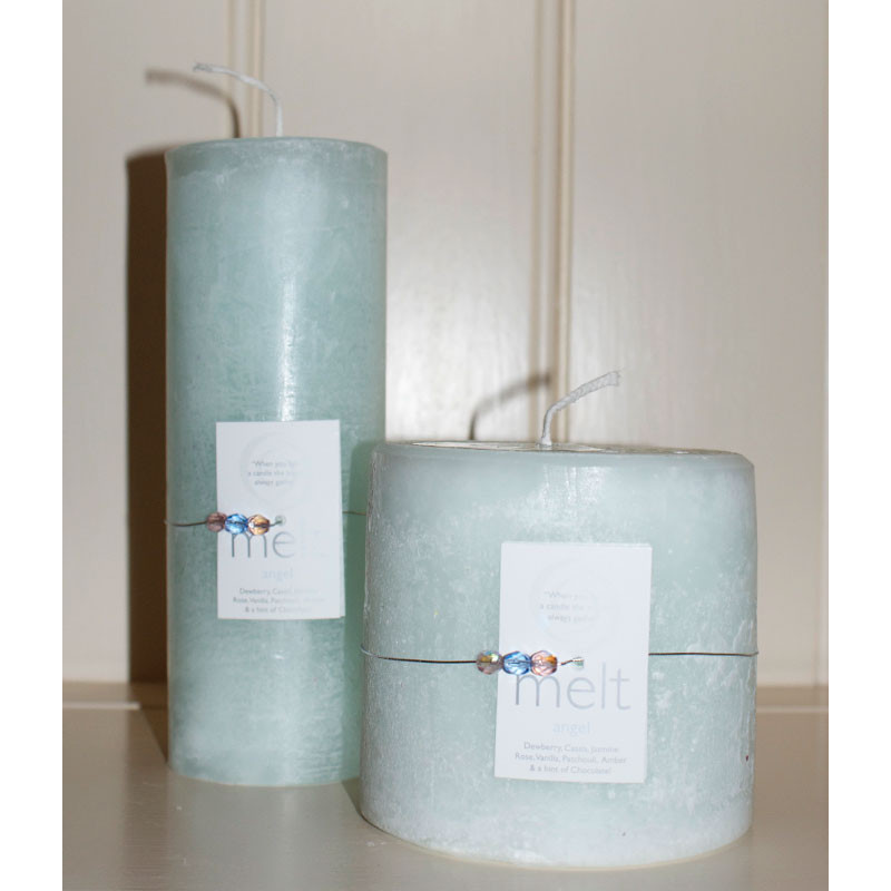 Melt 'Angel' candle - tall and thin