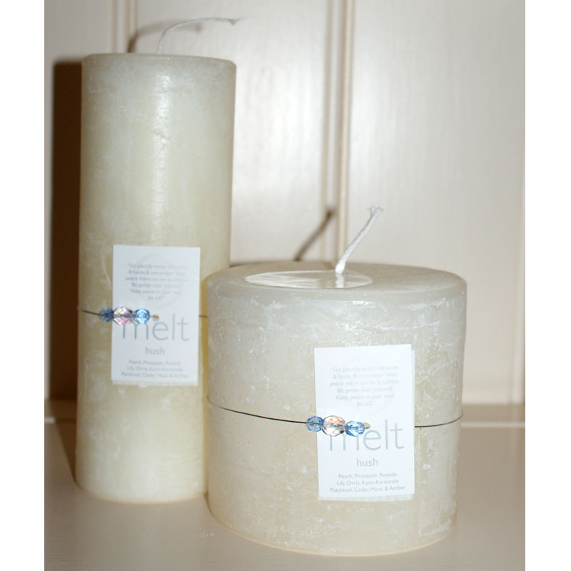 Melt 'Hush' candle - short and fat