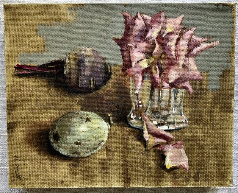 'Very Late Winter Rose' by Andrew Douglas-Forbes