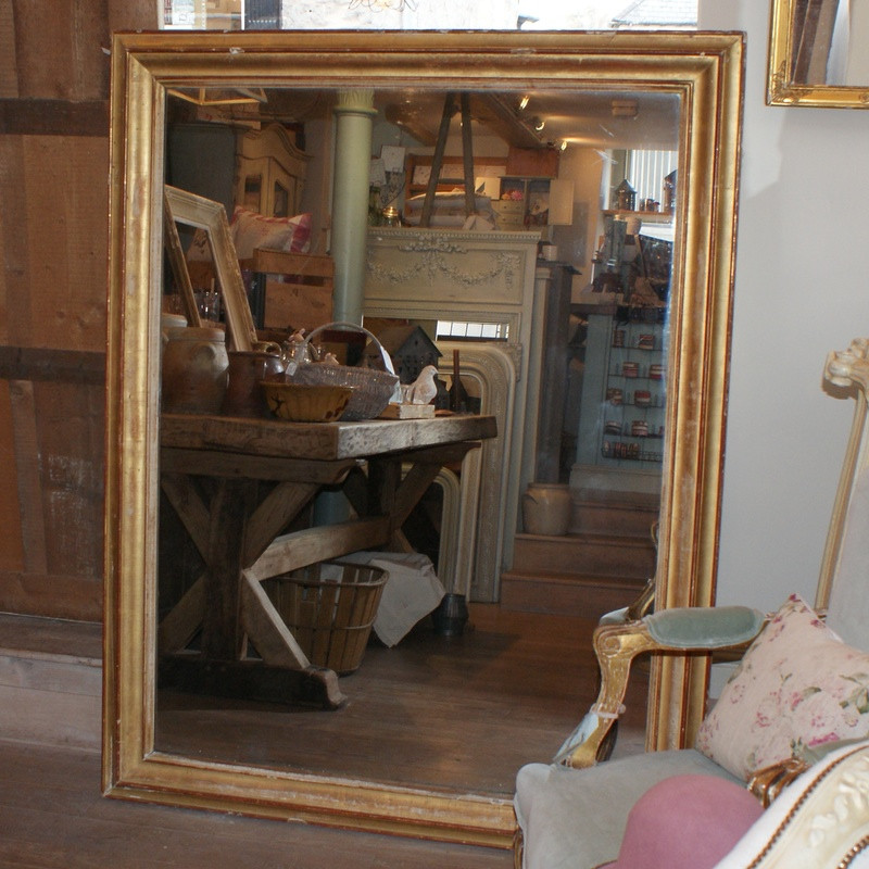 Large Antique French Mirror - Early 19thC