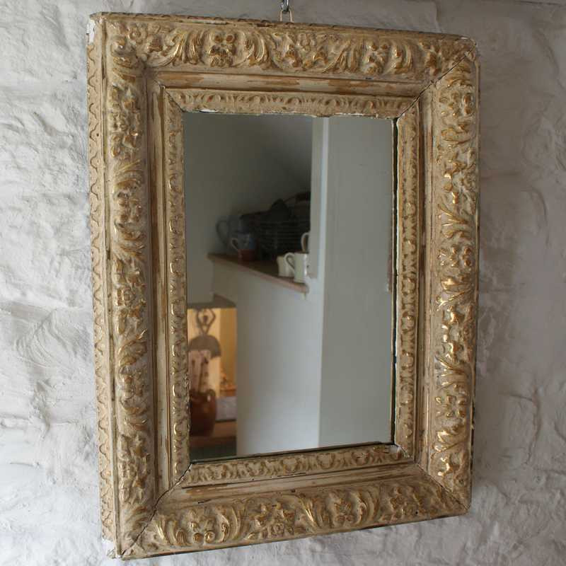 Antique Gilt Mirrored Frame