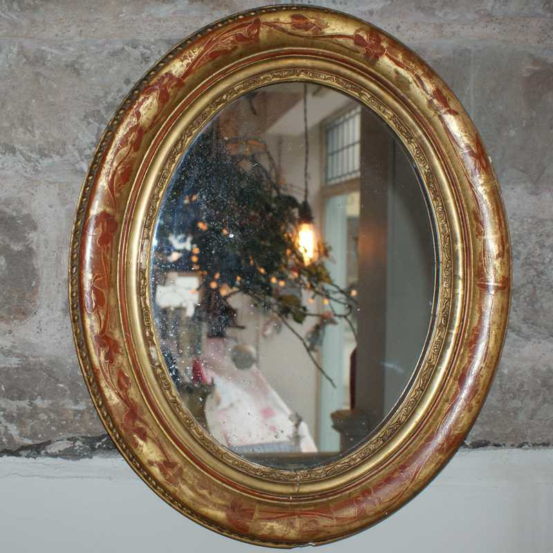 Antique French Mirror - Oval