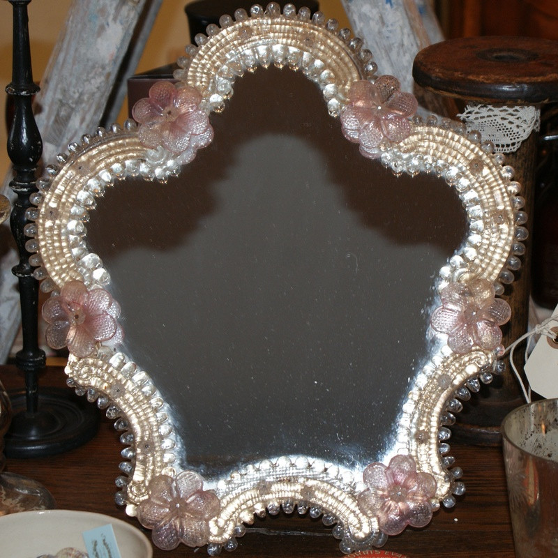 Antique french Cosmetic mirror