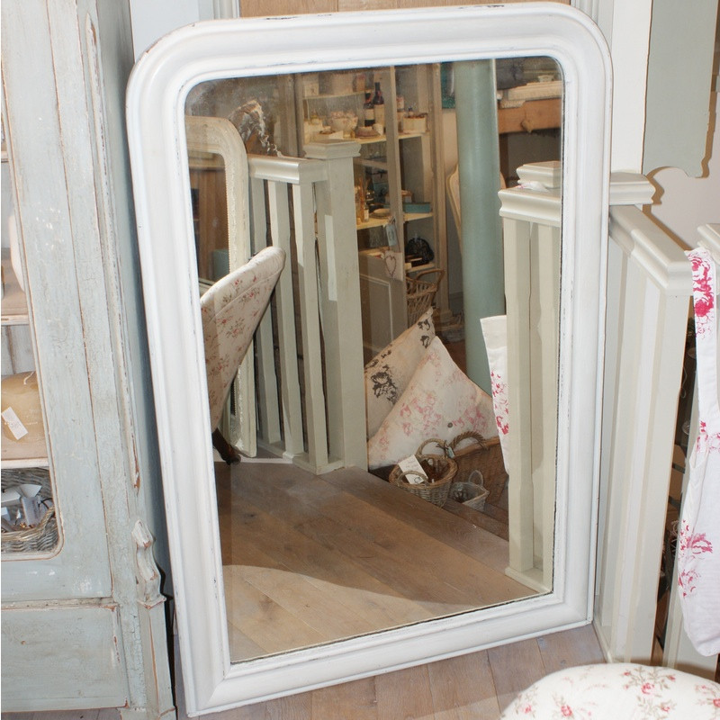 19th Century French Overmantle Mirror
