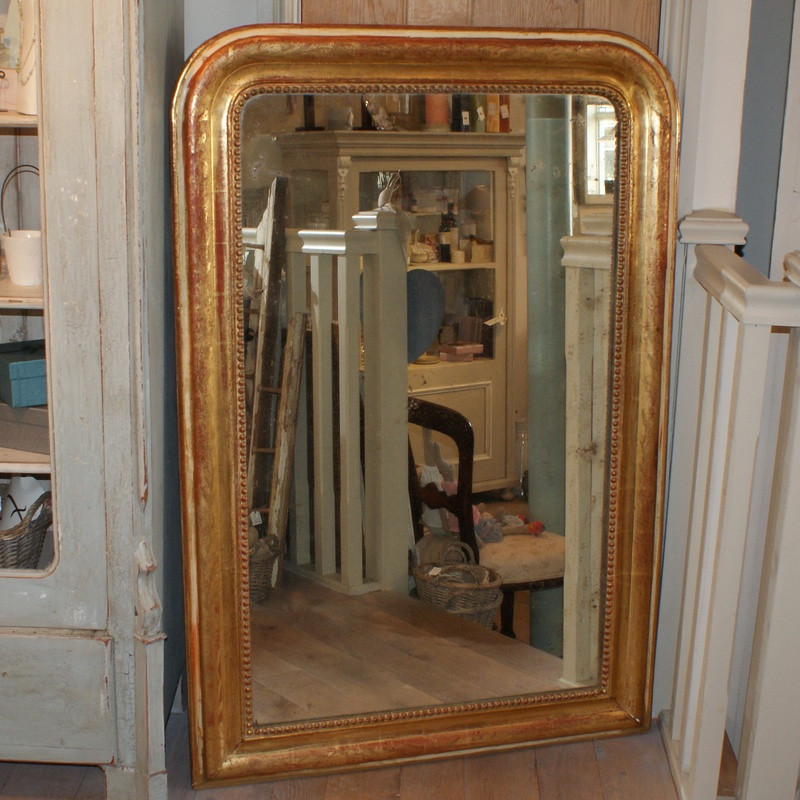 Antique French Gilded Overmantle mirror