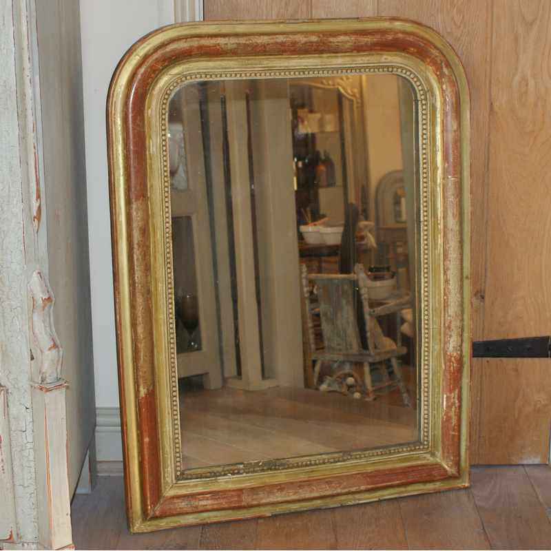 Antique French Louis-Philippe Gilded Mirror