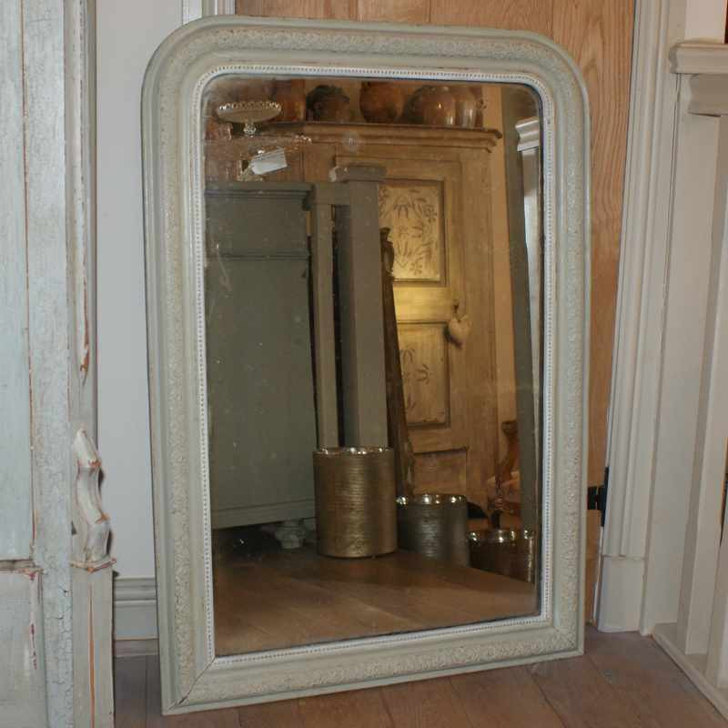Antique Painted Louis-Phillipe Mirror