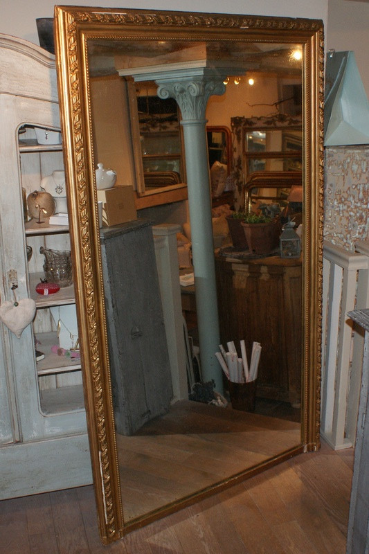 Full Length Antique French Mirror