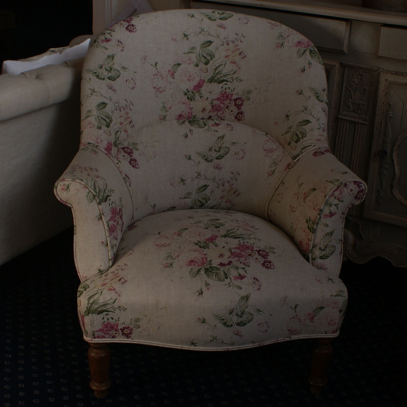 Large Antique French Tub Chair
