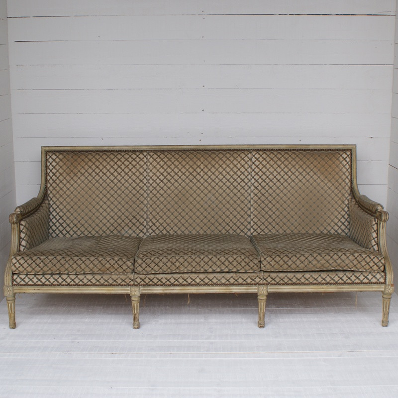 Antique French Sofa For Re-upholstering