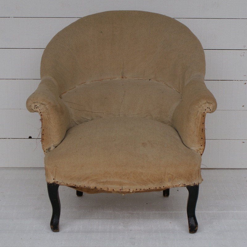 Antique French 'Crapaud' for Re-upholstery