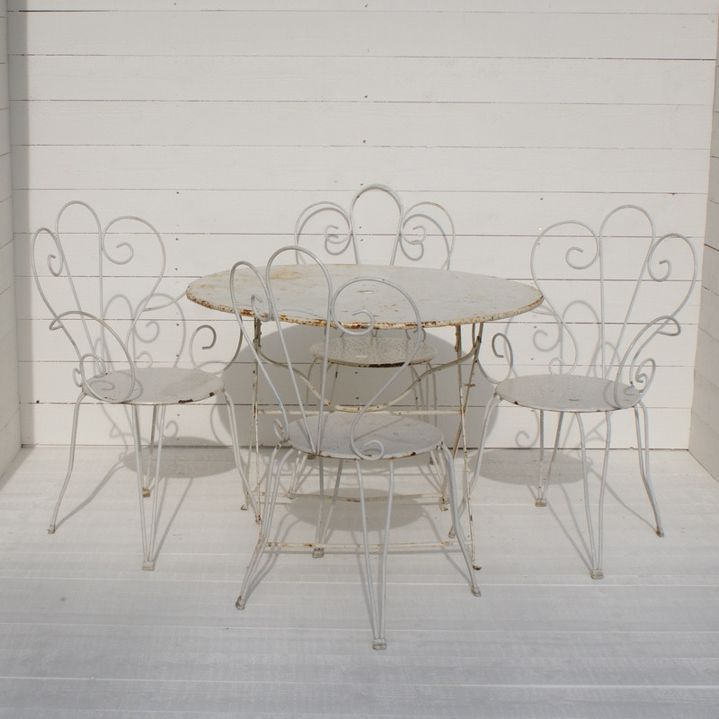 Antique French Garden Furniture Set