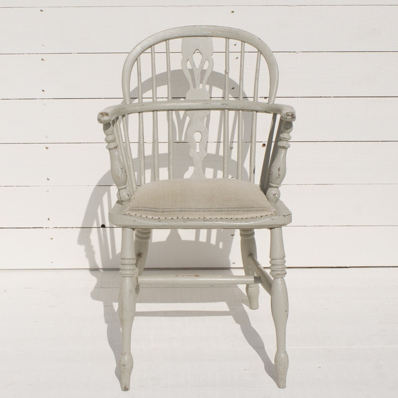 Painted Low Back Windsor Armchair