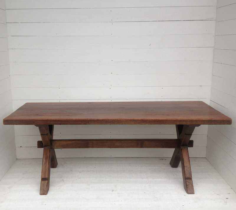 Antique French Oak Table - Extendable