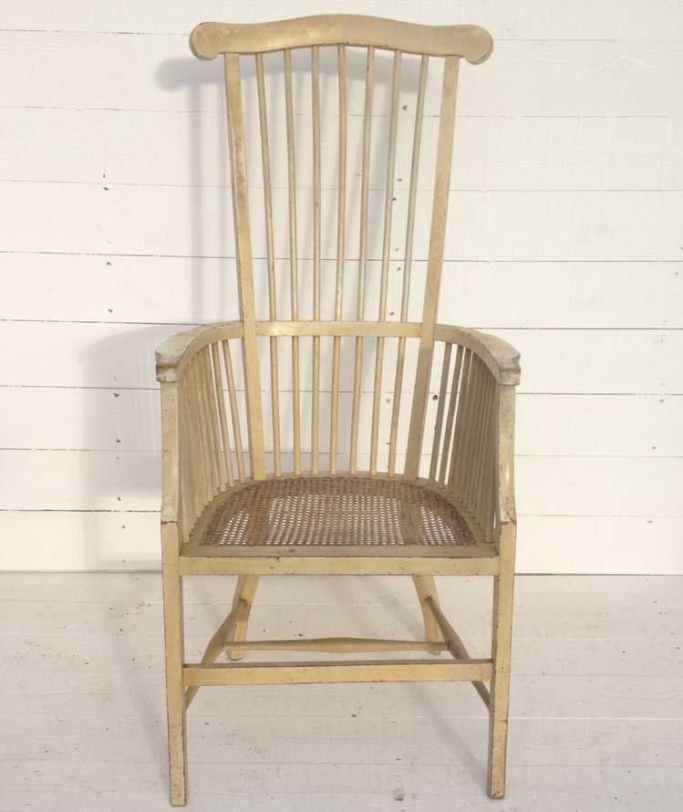 Antique French High Back Armchair