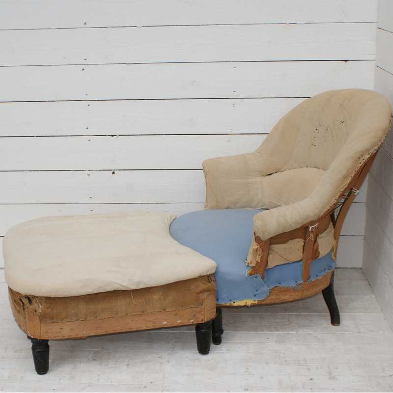Antique French Crapaud and Footstool