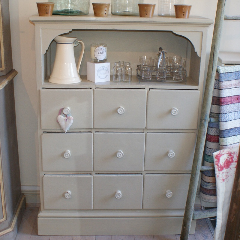 Antique Cupboard with 9 Drawers