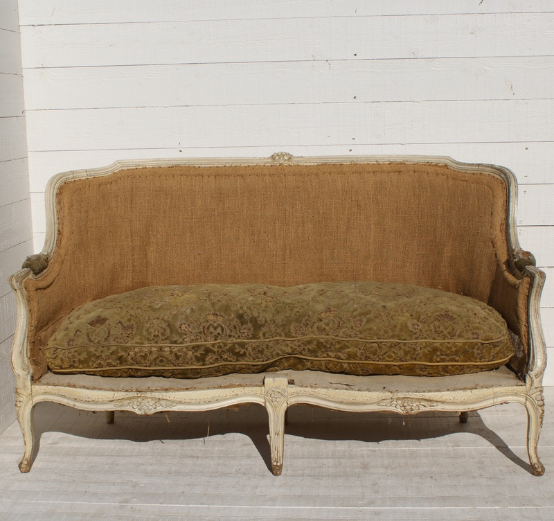 19thC French 'Canape' - Upholstery Inclusive