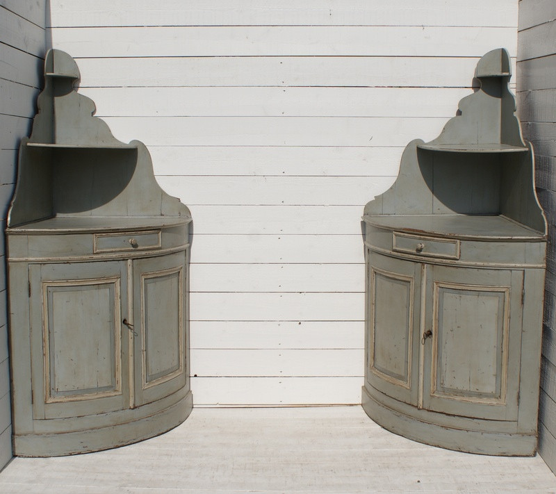 Pair of 19thC French Corner Buffets