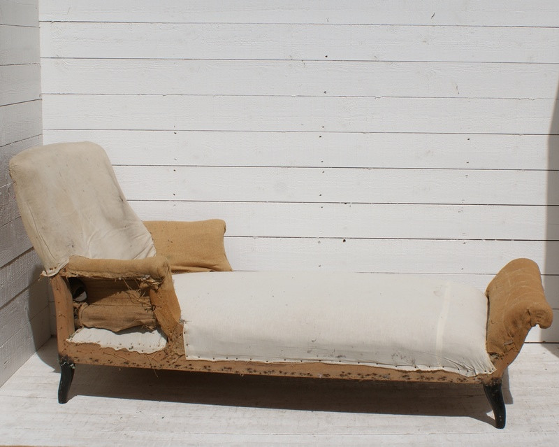 Antique French Daybed/Sofa - Upholstery Inc