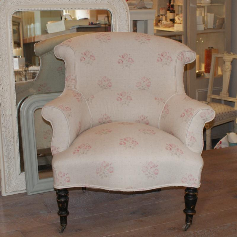 Antique Upholstered French Armchair