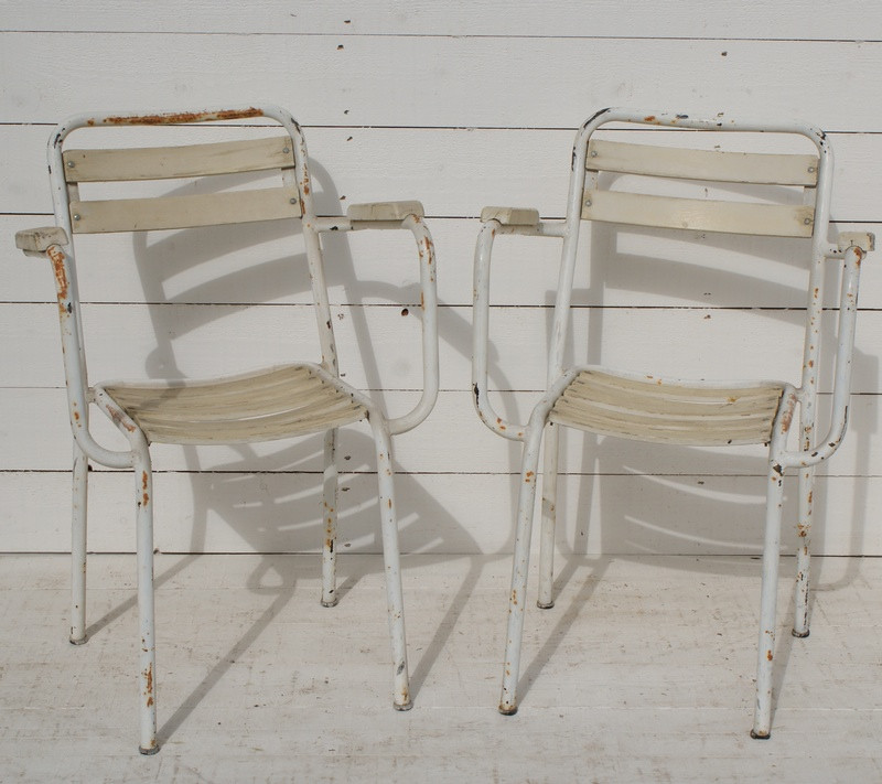 Pair of French Bistro Chairs