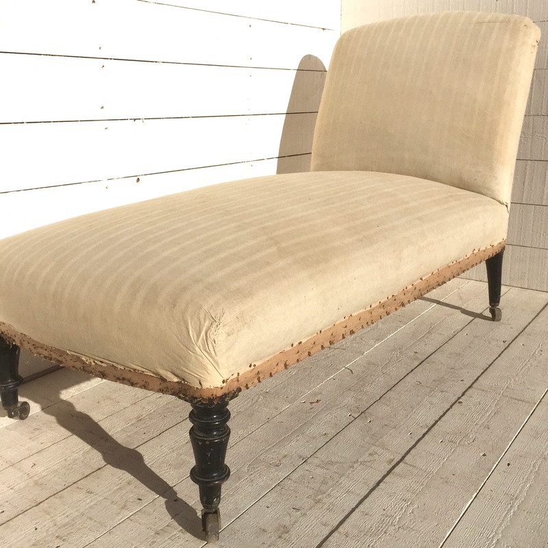 Antique French Chaise Longue - Upholstery Inclusive