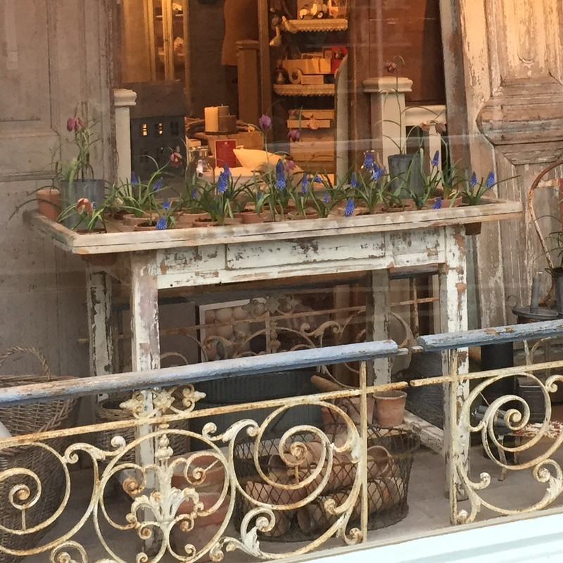 Antique French Potting Table