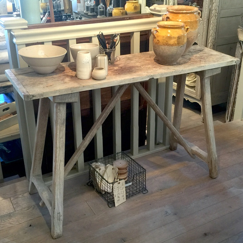 19thC Trestle Style Console Table