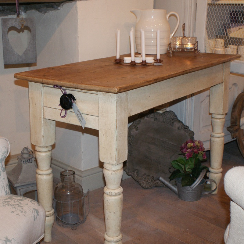 Antique pine top country table.