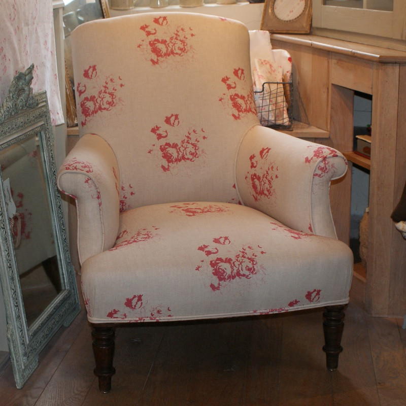 Antique French Upholstered Armchair  - SIMILAR AVAILABLE
