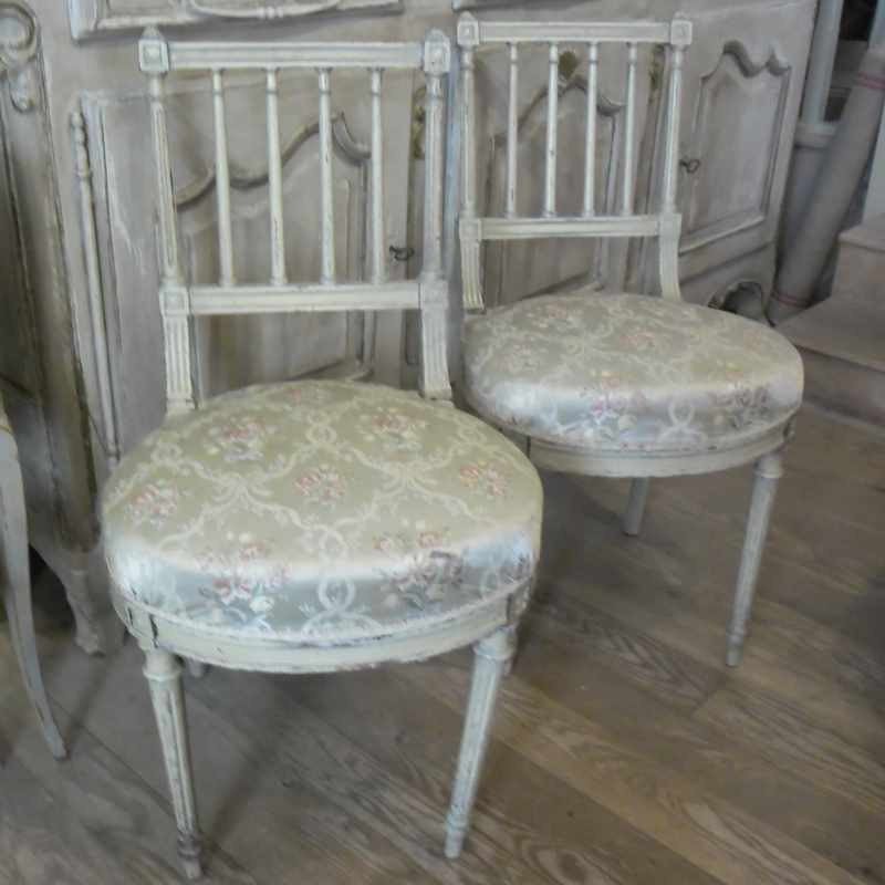 Pair of Antique French Bedroom Chairs