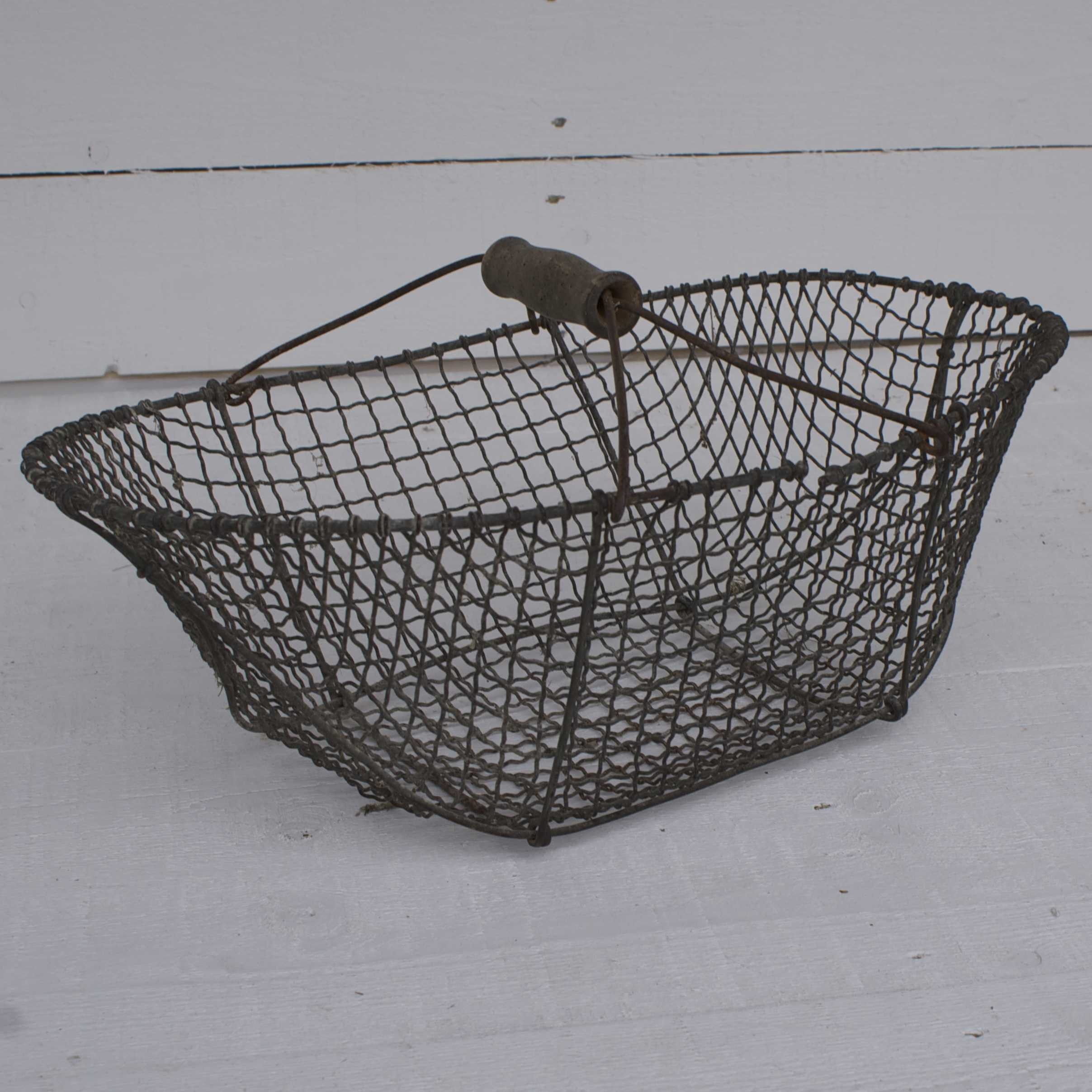 Antique French Wire Trug