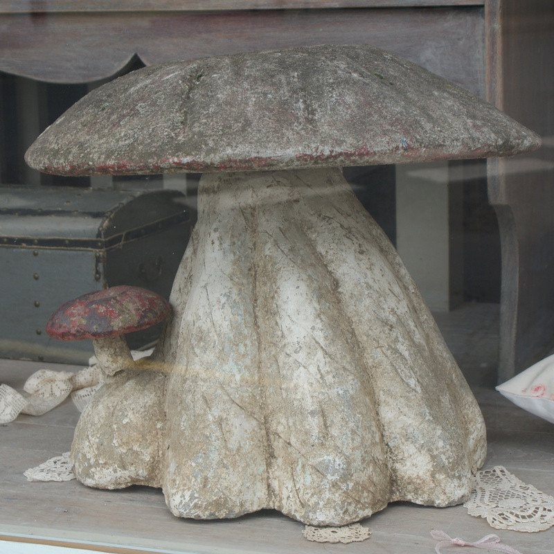 Antique Composition Toadstool
