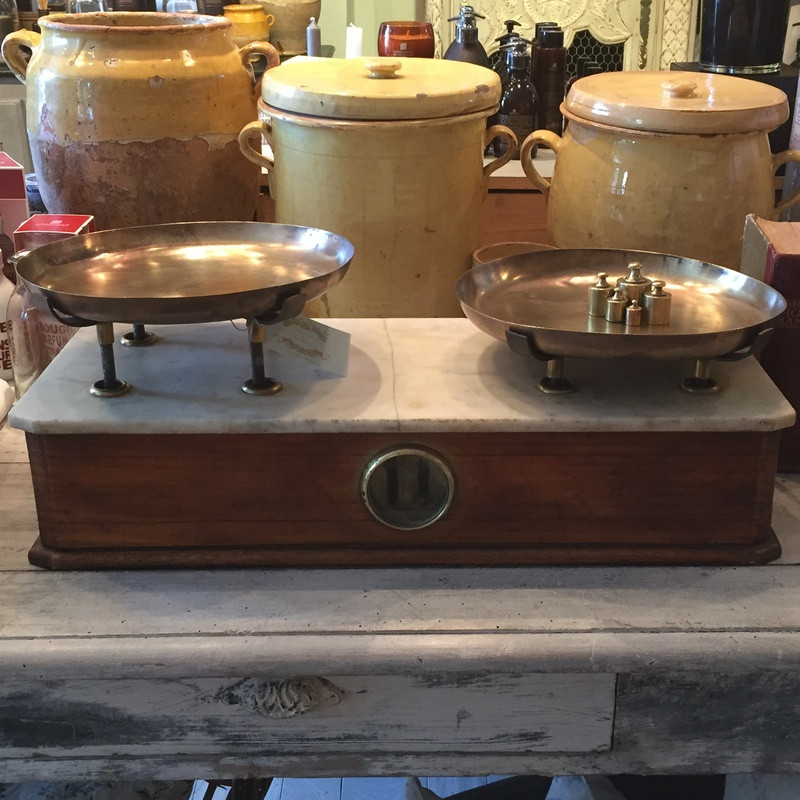 Antique French Bakery Scales