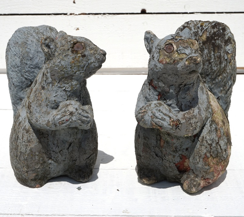 Pair of Composition Squirrels