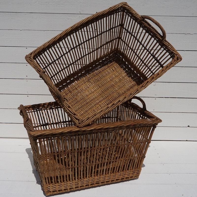 Antique French Linen Baskets