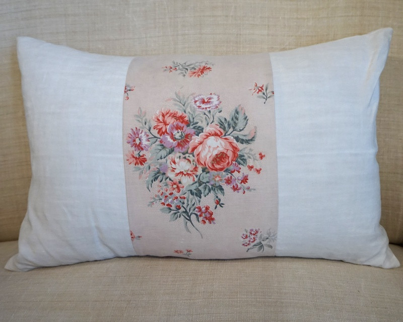 Antique Linen Paneled Cushion