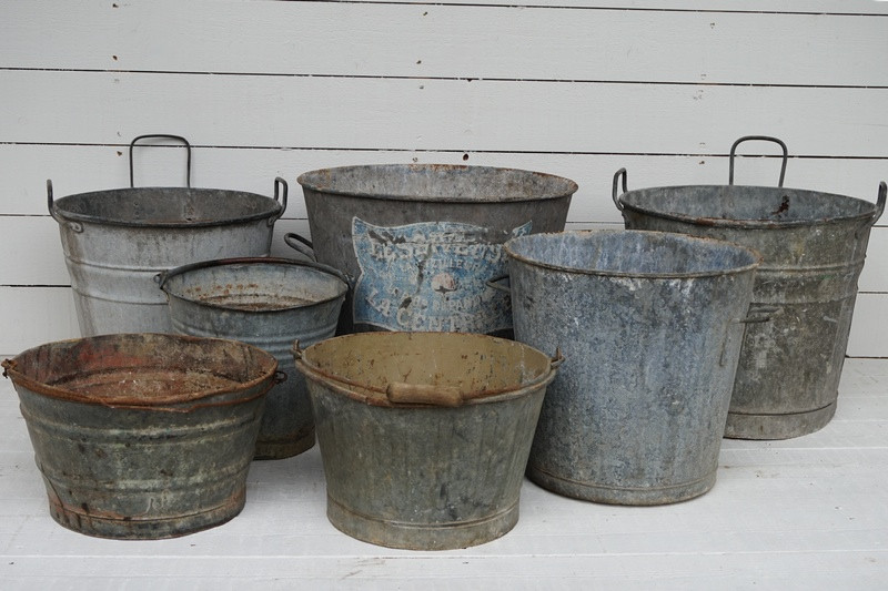 Collection of Zinc Planters