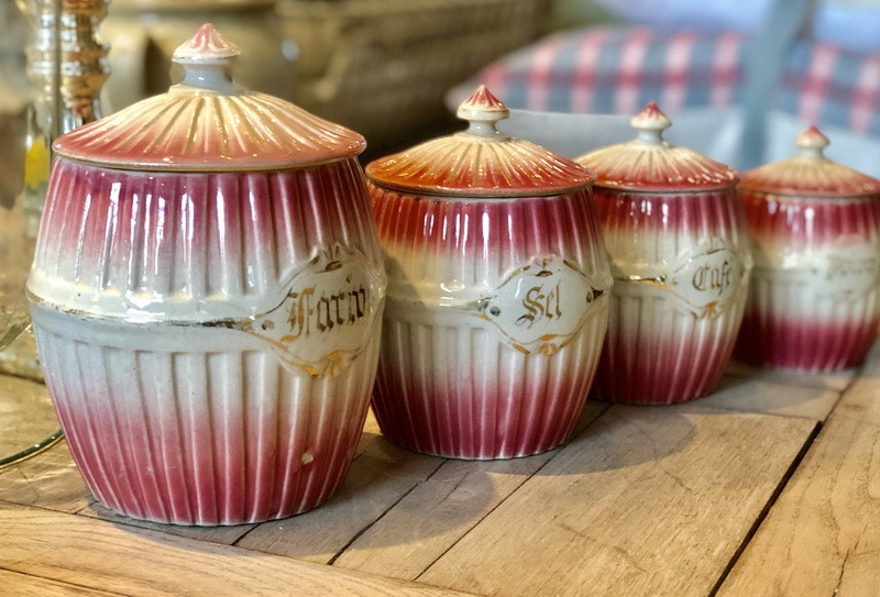 Set of 4 French Cannisters