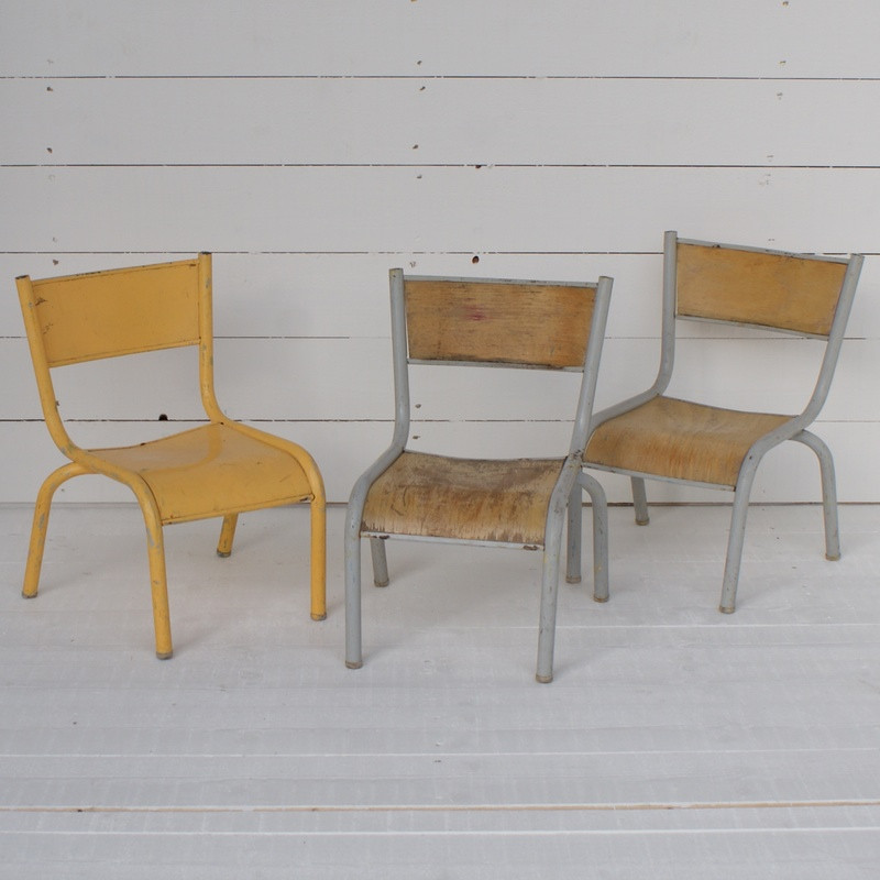 Charming 1940's French School/Garden Chairs