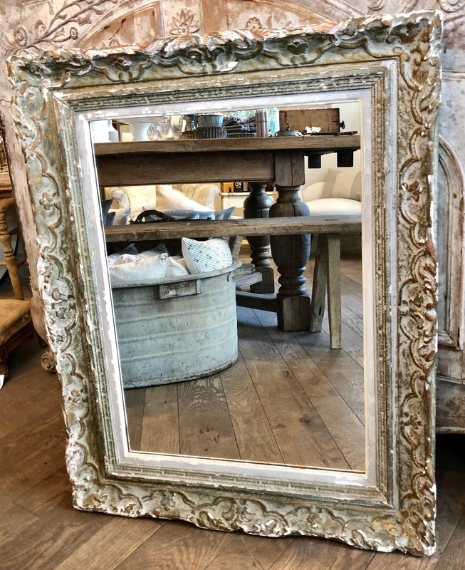 Antique French Mirrored Frame