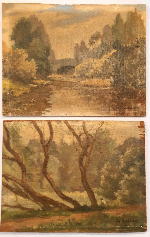 Pair of Antique French Paintings