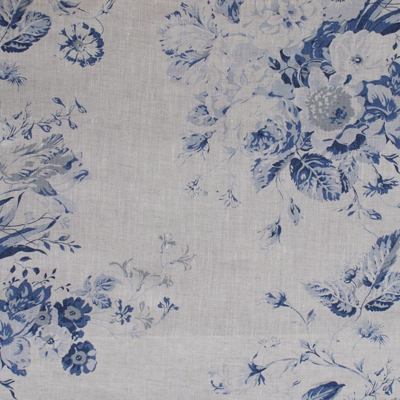 Cabbages & Roses Cushions - Constance Blue