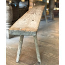 Antique French Dairy Bench