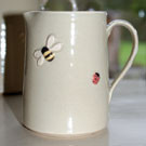 Small bee and ladybird jug